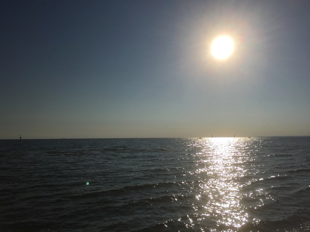 Sun over the sea