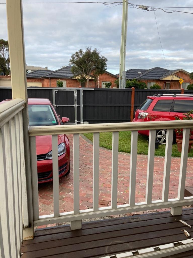 Verandah railings.